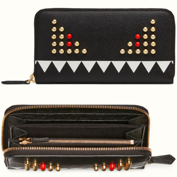 FE775 FENDI BAG BUGS ZIP AROUND WALLET