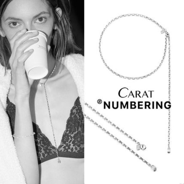 【NUMBERING】Emerald Drop Necklace★#3741ネックレス/追跡付