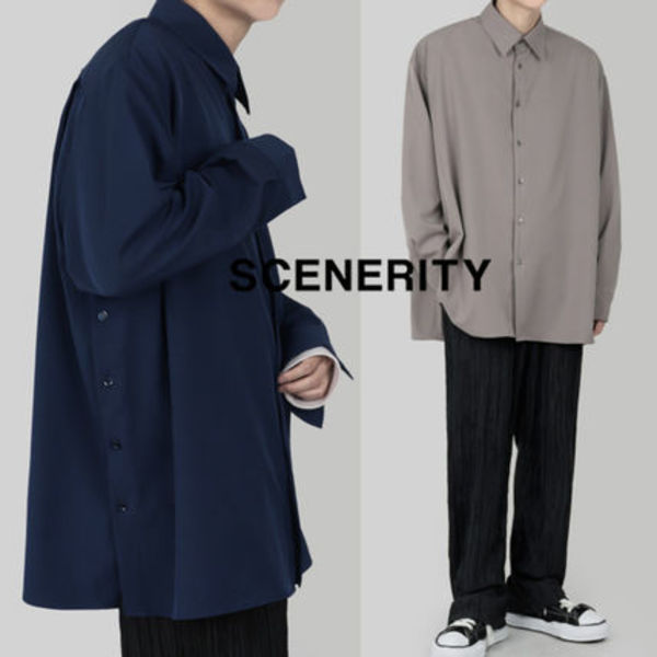 SCENERITY Button overfit shirt