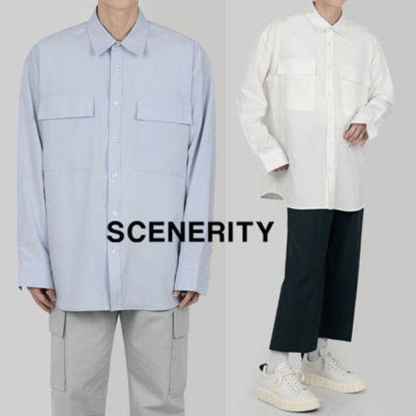 SCENERITY two pocket long-sleeved shirt