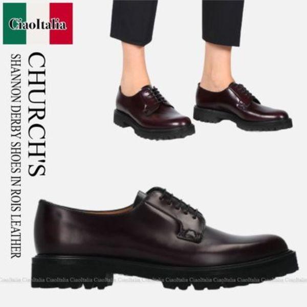 CHURCH'S  SHANNON DERBY SHOES IN ROIS LEATHER