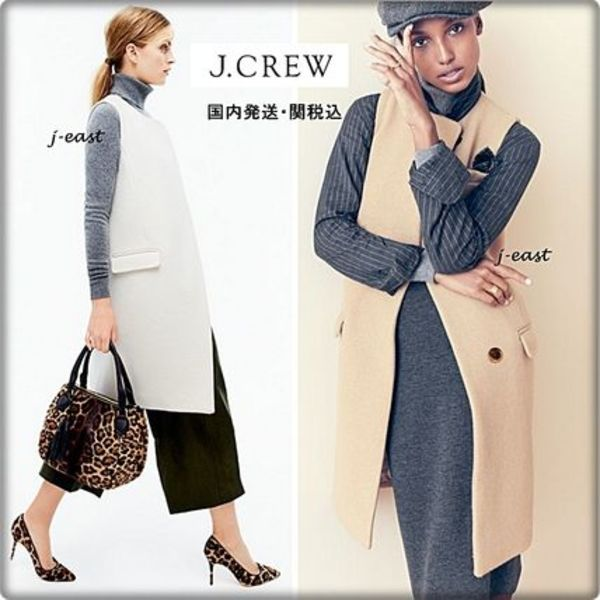 New 【国内発送】J.CREW COLLECTION  WOOL SLEEVELESS COAT