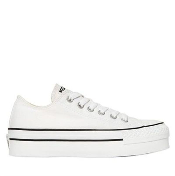 【新作 CONVERSE】40mm厚底 ALL STAR OX CANVAS SNEAKERS♪白