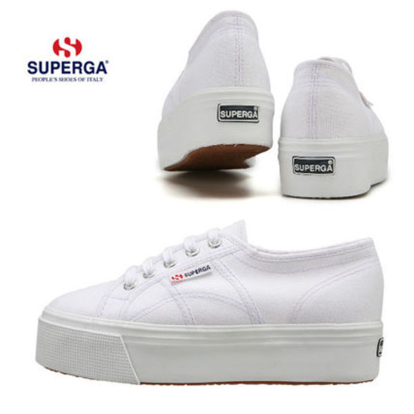 SUPERGA★2790 UP AND DOWN★プラットフォーム☆22~25cm・白