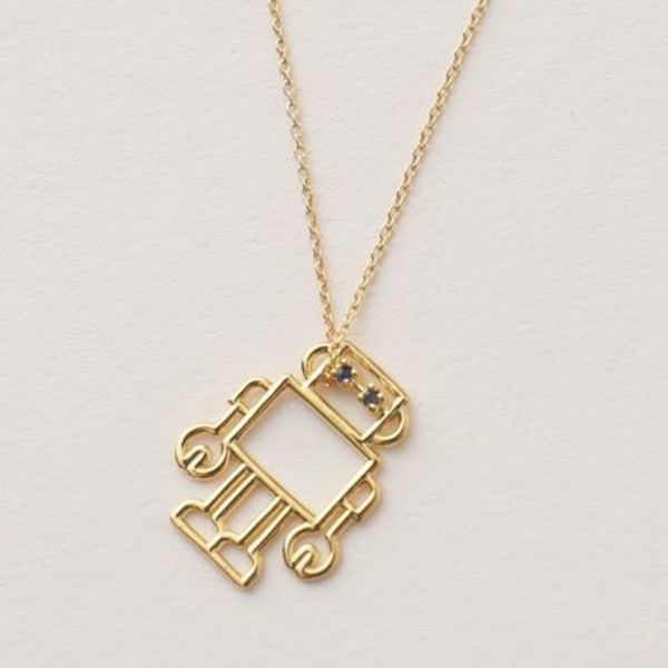 ALIITA ネックレス ROBOT ZAFFIRO-BLU NECKLACE ROLO ペンダント