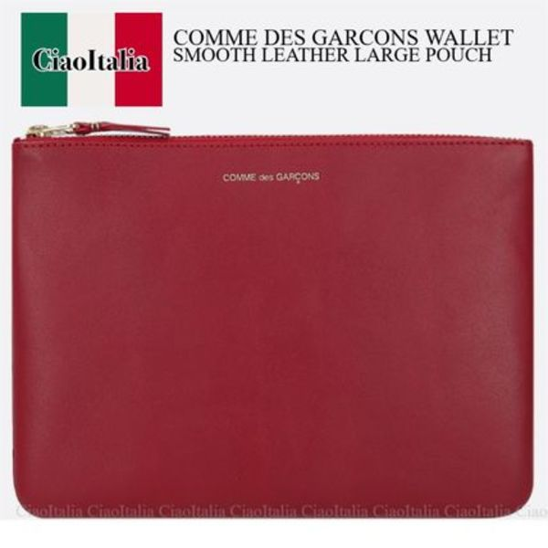 COMME DES GARCONS SMOOTH LEATHER LARGE POUCH