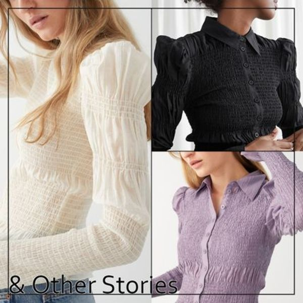【& Other Stories】Fitted Smocked フリル付き シャツ