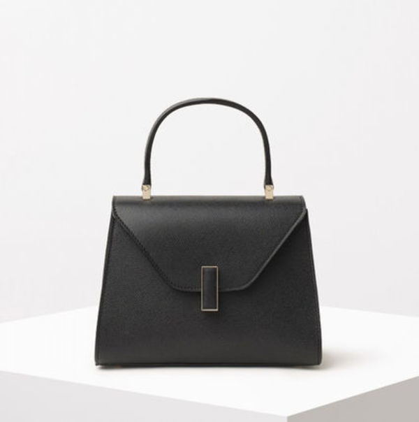∞∞ Valextra ∞∞ Iside mini textured-leather バッグ☆BLK