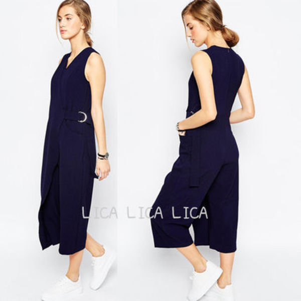 送料無料・国内発送ASOS D-Ring Wrap Jumpsuit