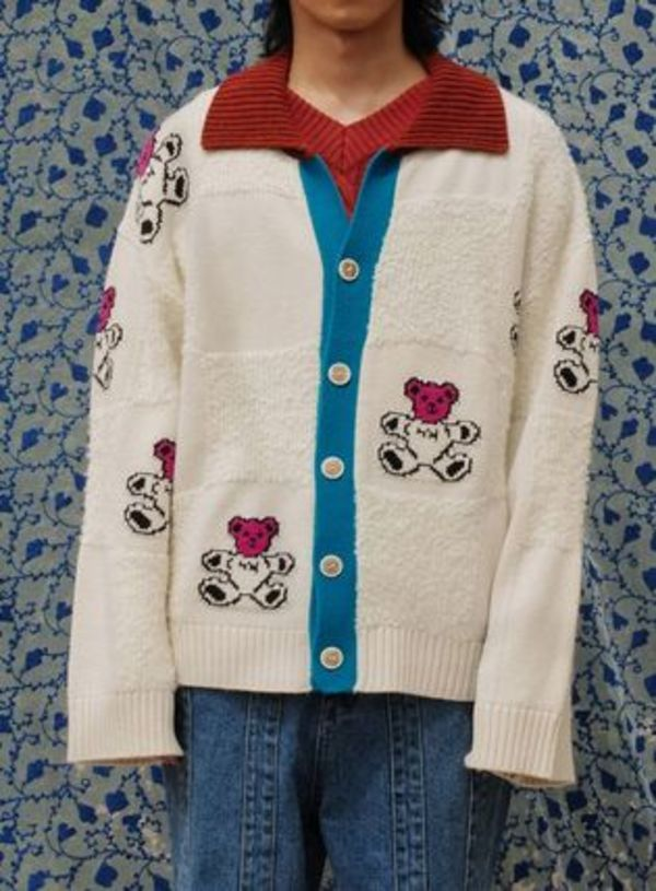 ●YOUTHBATH● 20F/W  BEAR CHECK CARDIGAN 2色
