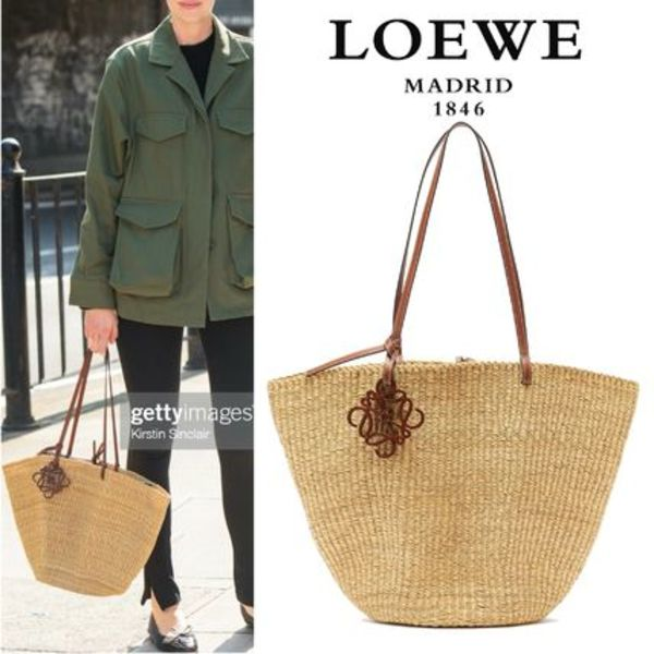 ∞∞ LOEWE ∞∞ Shell leather-trimmed バスケットバッグ☆