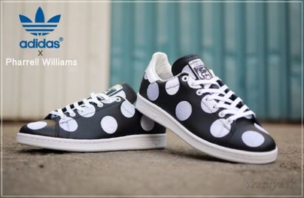 関税込★コラボ adidas x Pharrell Williams Stan Smith Black
