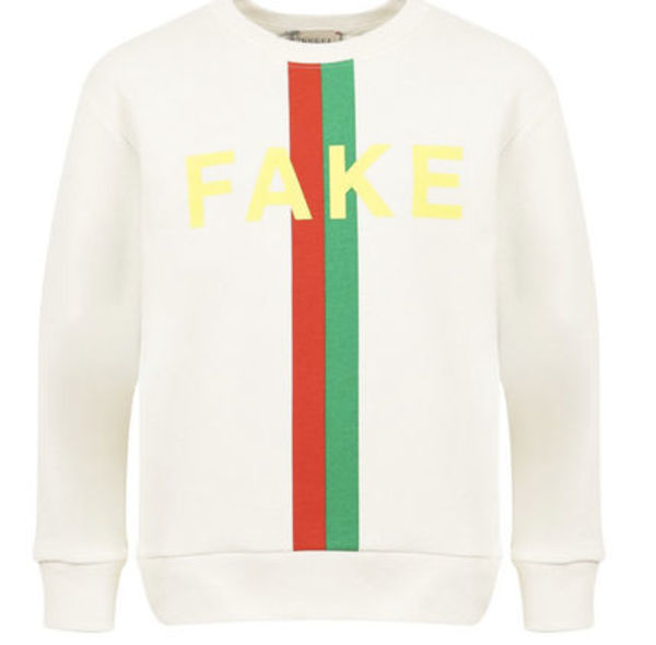 2021SS GUCCI Kids NOT FAKEロゴスウェット WH (DC-10Y)