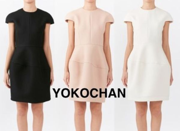 YOKOCHAN♡Cap-sleeve Balloon Dress