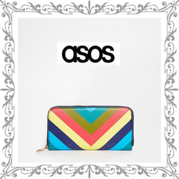 ★ASOS★Chevron Zip Around Purse ☆送料込み
