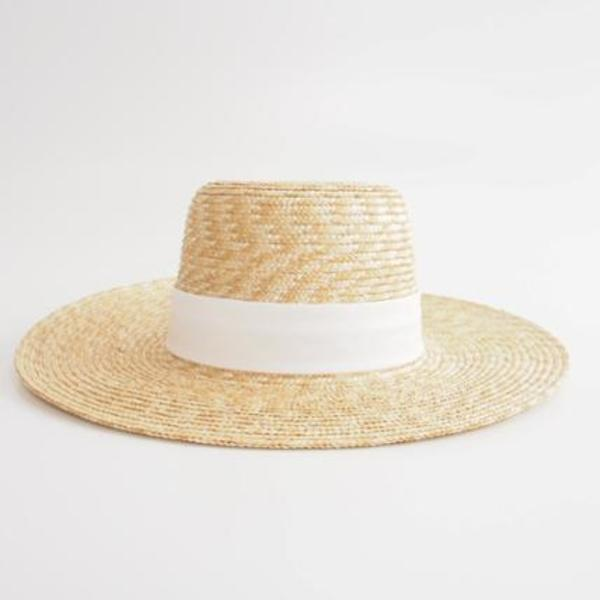 【J Crew】春デザイン WIDE-BRIMMED STRAW HAT[RESALE]