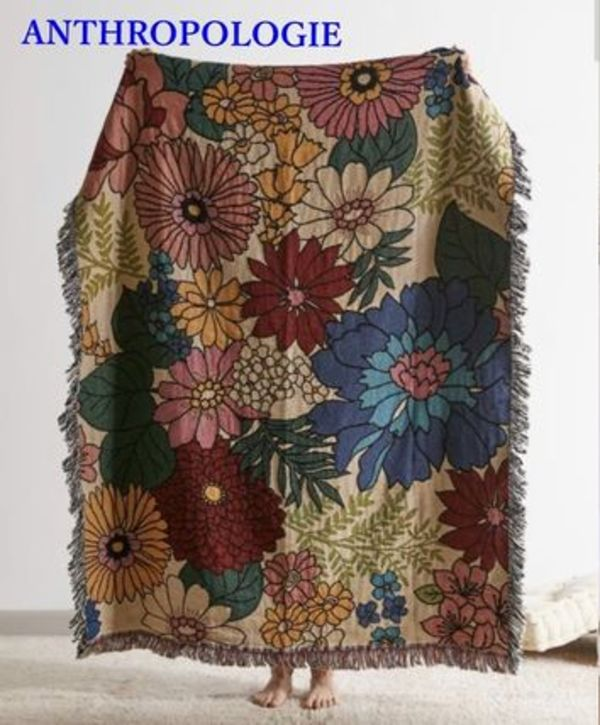 URBAN OUTFITTERS Valley Cruise Press花柄ブランケット