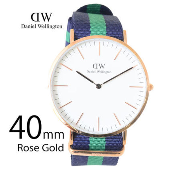 Daniel Wellington 40mm メンズ Classic Warwick 0105DW
