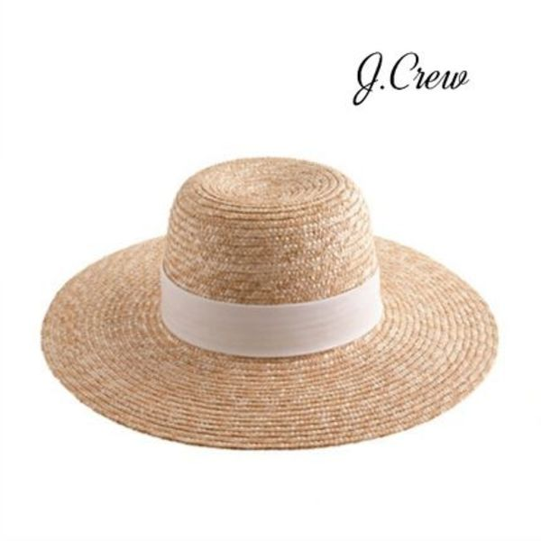 【J Crew】春デザイン WIDE-BRIMMED STRAW HAT