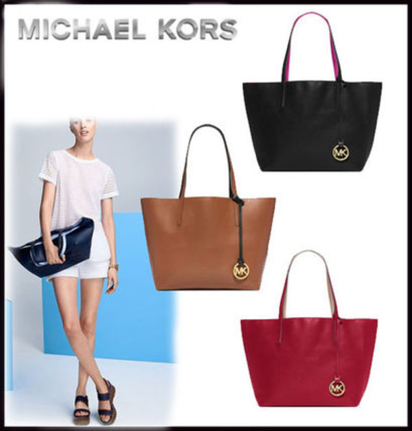 MICHAEL KORS ★ Izzy Large Reversible Leather Tote 国内発送