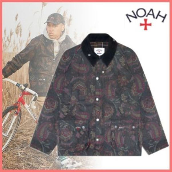 21SS◆コラボ◆Noah x Barbour◆Paisley Waxed Bedale Jacket
