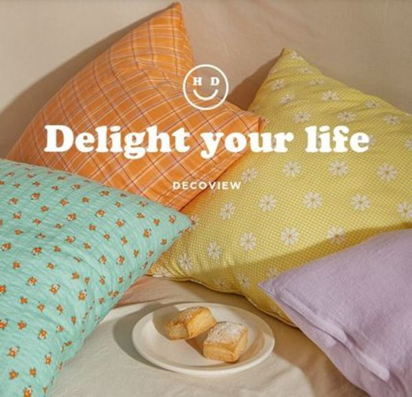【DECO VIEW】Happy Life Cushion Cover