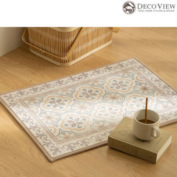 DECO VIEW(デコヴュー)★ Sepia Moroccan Tile Foot Mat - 50X70