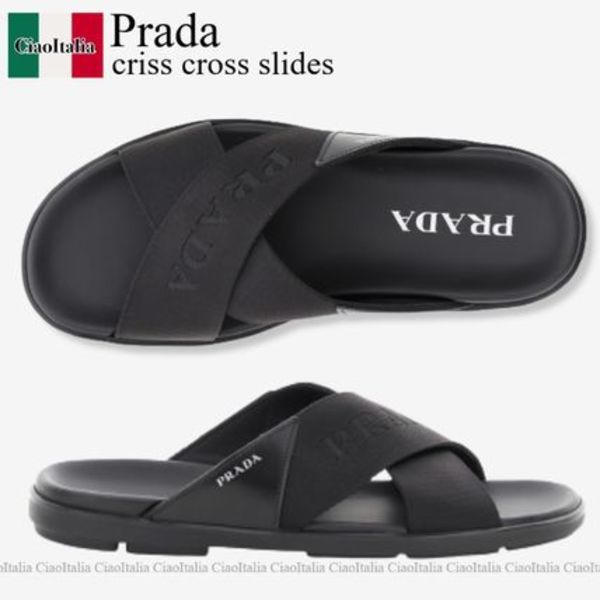 Prada criss cross slides