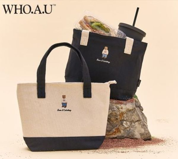 【WHO.A.U】韓国発★ Steve Lunch Bag 保温保冷 ランチバッグ