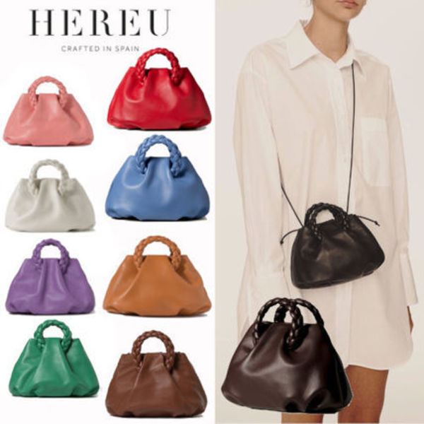 【HEREU】新作!Small Plaited Handle Leather Tote