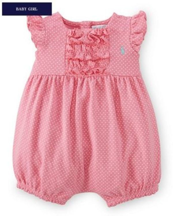 新作♪ 国内発送 2色RUFFLED COTTON SHORTALL girls 0~24M
