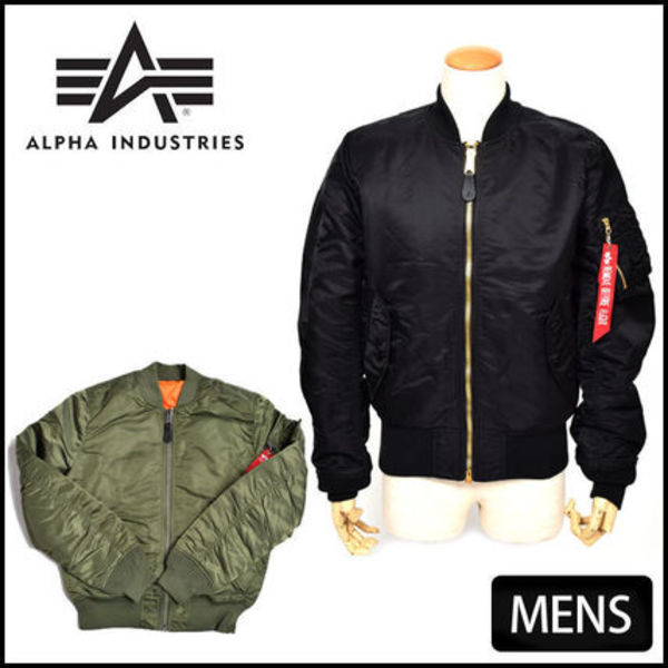 +ALPHA INDUSTRIES+MA-1 flight+Bomber Jacket+3色+メンズ+