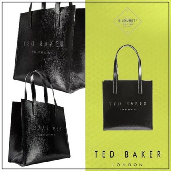 TED BAKER* トートバッグ ショッパーバッグ ロゴ 定番 ブラック