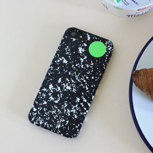 韓国可愛い雑貨☆IPhone hard case - marble(black)/MALGRECELA