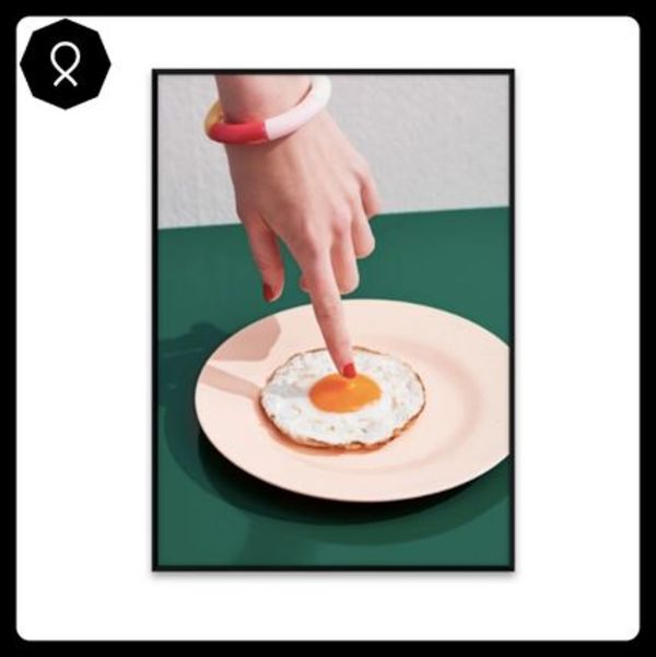 【Paper Collective】Fried Egg ポスター / 30 x 40cm
