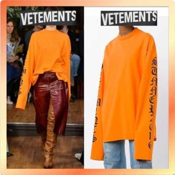 送料関税込 2016SS Vetements Orange Oversized Sweatshirt