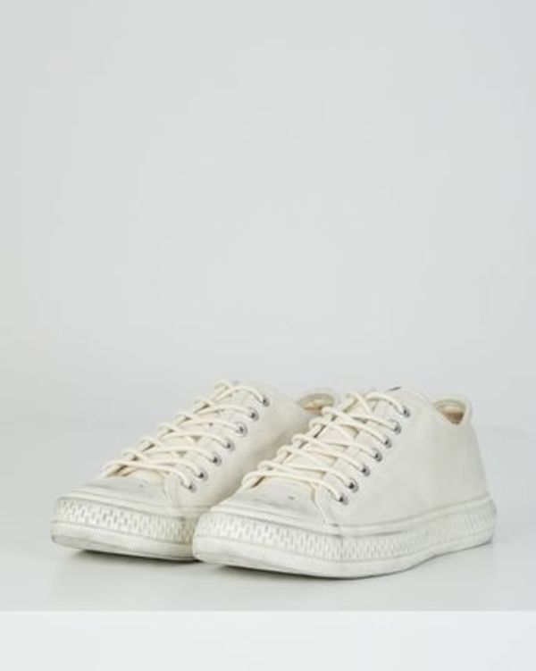 ACNE Ballow W Tumbled canvas sneakers キャンバススニーカー白