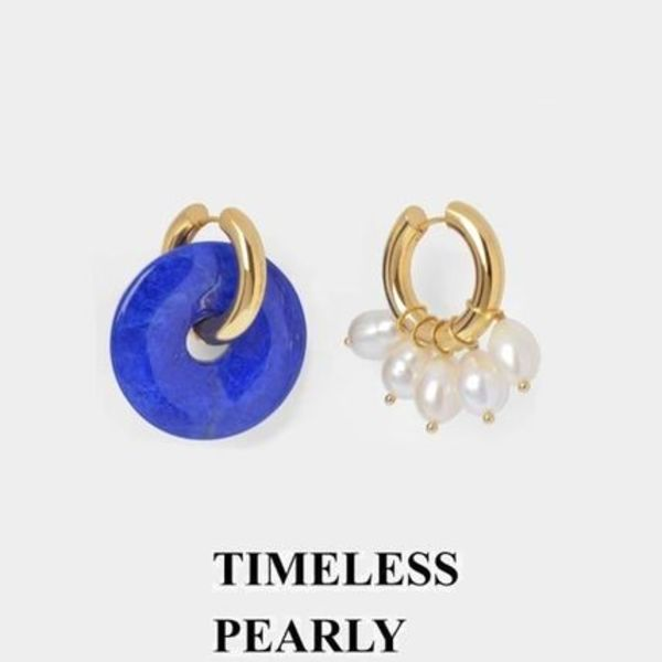 【TIMELESS PEARLY】 ミスマッチ ステートメント ピアス