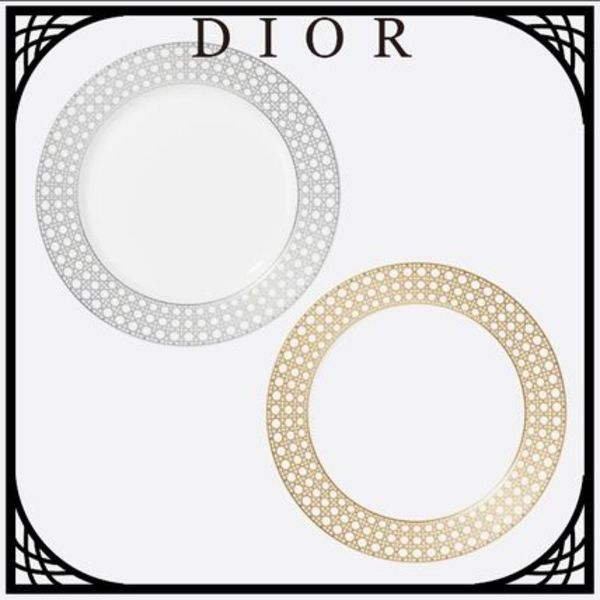 DIOR 'CANNAGE MONTAIGNE'デザートプレート 直営店買付 ギフトに