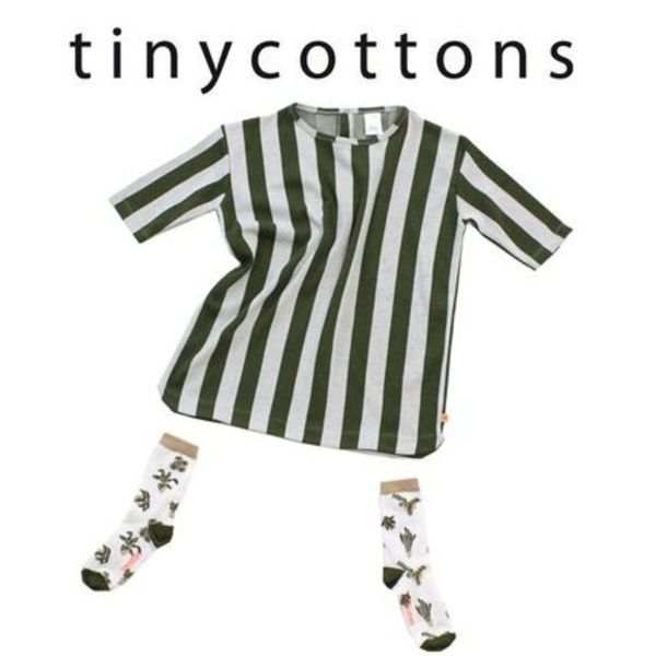 2016SS【tinycottons】stripes woven dress 3m~8y