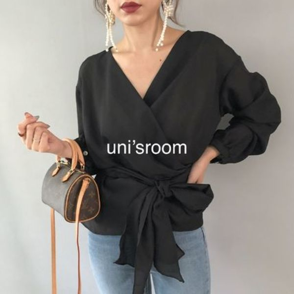 uni's room■4color カシュクールシアーブラウス ST-AW20-03