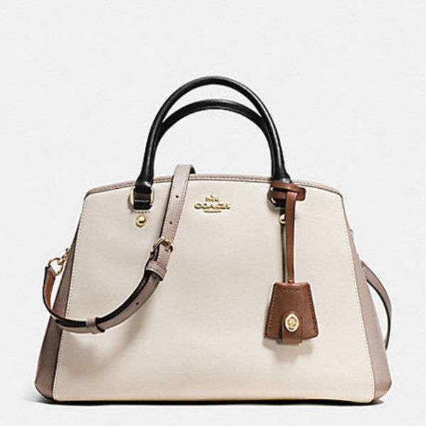 大人気シリーズ【SMALL MARGOT CARRYALLIN COLORBLOCK LEATHER】