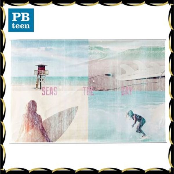 PBteen♪壁紙*Girl Surf and Beach Wall Mural