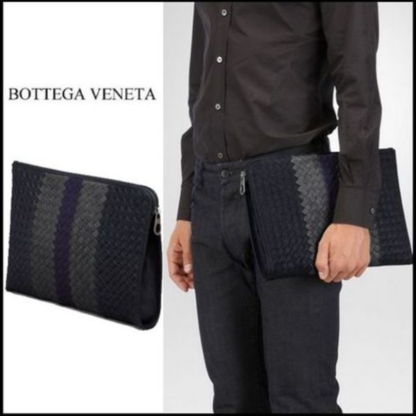 2015秋冬☆Bottega Veneta☆PORTE-DOCUMENTS NEW DARK NAVY
