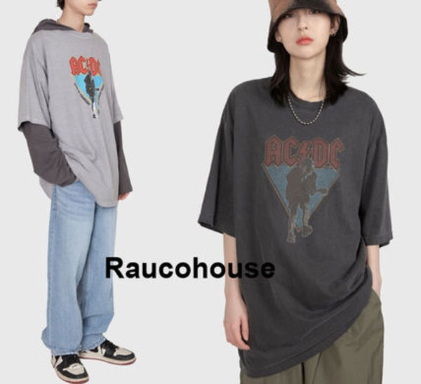 Raucohouse ACDC LIVE DYEING T-SHIRT