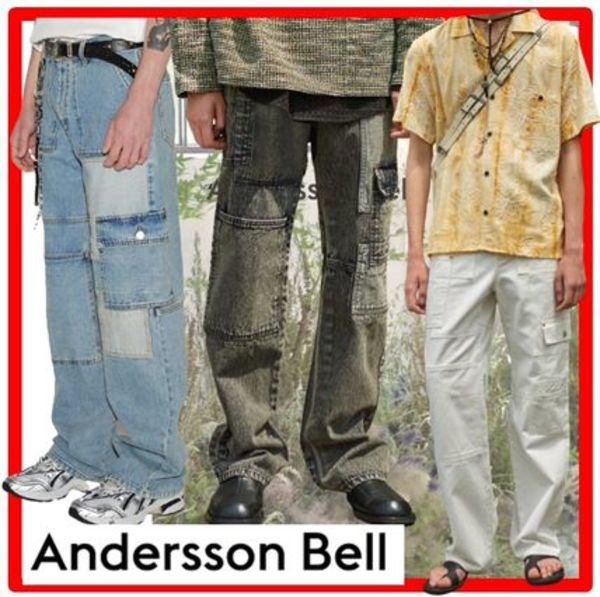 ★ANDERSSON BELL★PATCHWORK DENIM WIDE-LEG JEAN.S★ジーンズ
