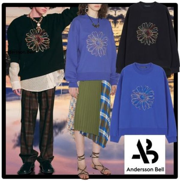 ☆ANDERSSON BELL☆UNISEX COSMOS EMBROIDERY SWEATSHIR.T 人気