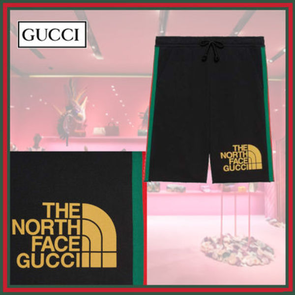 GUCCI×THE NORTH FACE★ウェブプリント コットン ショーツ