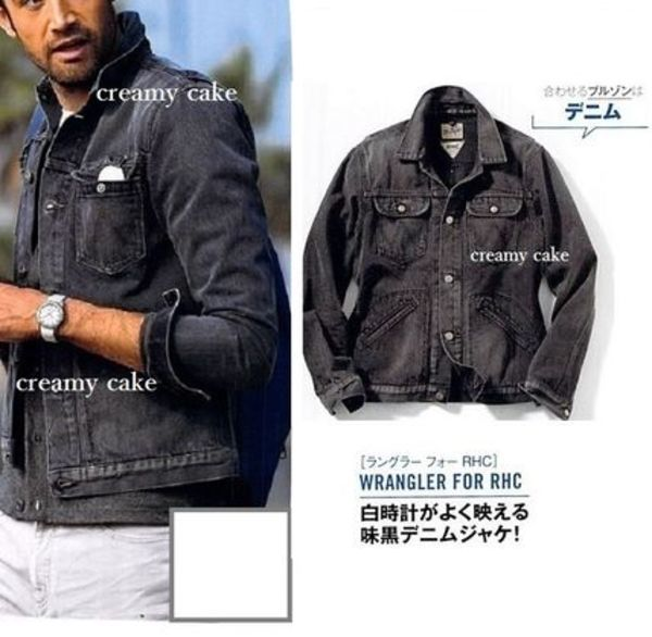 大人気♪Wrangler for RHC Denim Jacket ブラック