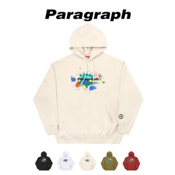 【PARAGRAPH】21ss★ PAINTING LOGO HOODIE No.26